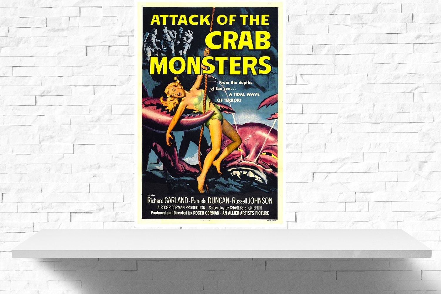 Vintage Attack of The Crab Monsters Poster Print by ...