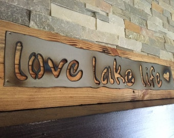 Lake House Wall Art sign for lake house | etsy