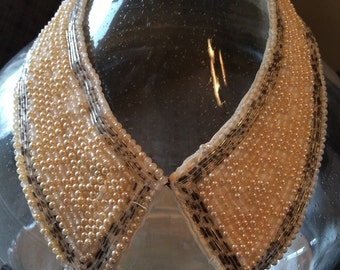 Pearled collar necklace