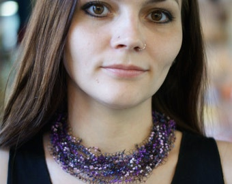 "Easy, air, necklaces of beads ""Violet"""