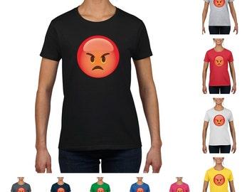 Angry Face Emoji Women's Fashion T-Shirt