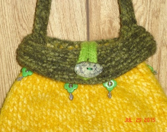 Sunflower Felted Purse
