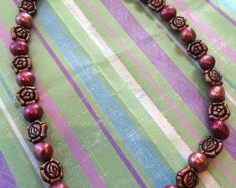 Blood Flowers necklace / choker