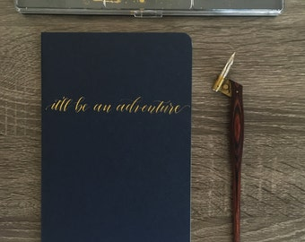 Personalized Calligraphy Journal - Handwritten Personal Moleskine Journal
