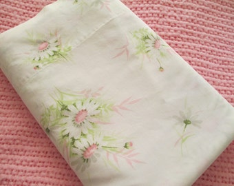 PINK Daisy Floral Flat Sheet- Full / Double