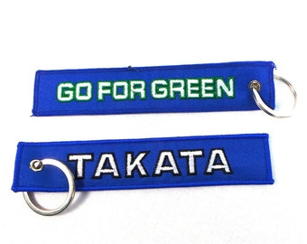 Unvisersal Takata KeyChain GO FOR GREEN Fit for All Cars-Blue