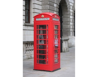 Telephone Box - Phone Box - Red Phone Box - London - Urban - Phone Box Photo - Red - Vertical - Digital Photo - Digital Download - Wall Art