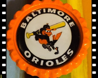 Retractable Baltimore Orioles The Birds ID Name Reel Badge Pull
