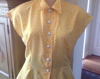 ON SALE 10% has been taken OFF Price 40s pattern Peplum Blouse