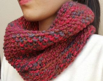 RedWood Knit Cowl - Knit Winter Cowl - Knit Neckwarmer