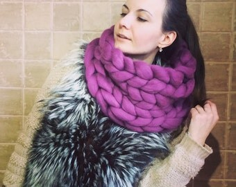 Super chunky scarf - Knitted scarf - Hand knitted scarf - Chunky scarf - Thick yarn - Scarf