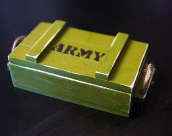 Wood box, army box, army souvenir, army gift