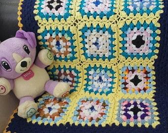Baby crochet blanket. Baby Boy Crochet blanket. Baby Girl crochet blanket.Granny square crochet baby  blanket.