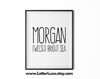 The Meaning Of The Name Morgan