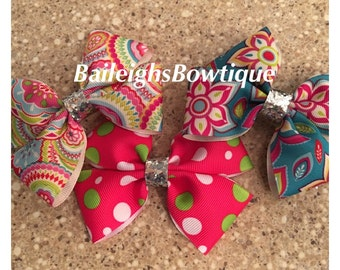 3 for 8.99, mini bows, toddler bows, baby bows