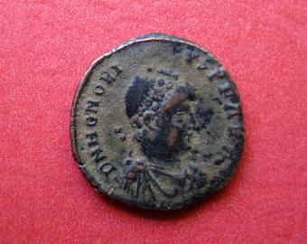 Roman Empire, Bronze AE 3 of Honorius, AD 383-423