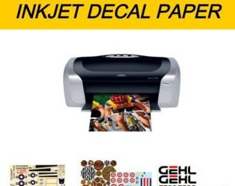 waterslide DECAL paper, paper for decals to water, printing INKJET, 1/3/6 transparent A4 pages (no need to cover-coat)