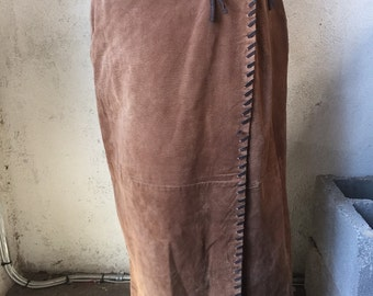 70's Fringe Leather Skirt