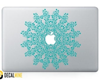 Snowflake Mandala MacBook Decal Vinyl Sticker Removable Vinyl Decal MacBook Pro Sticker MacBook Air Decal MacBook Decals