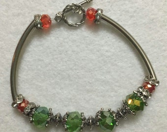 Green and Orange Bracelet
