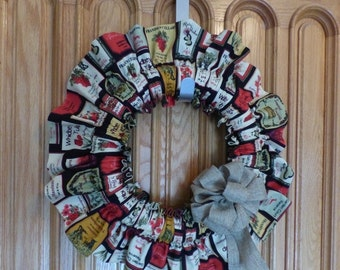 Close Out Sale: Wine lovers wreath