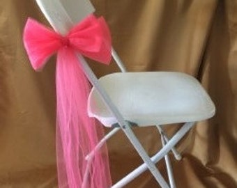 LARGE CORAL TULLE  Double Flat Bows Sold In Sets Of 6 Ideal For Venue Decorations
