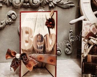 Short names of 3 letters folded book art