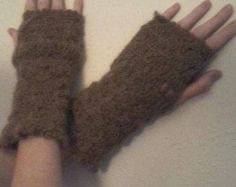 Mohair Fingerless Gloves/Mitts
