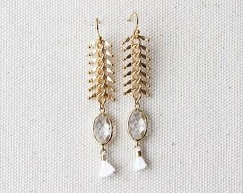Glam Dangle Earring - Crystal