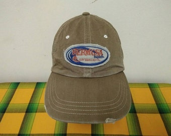 Rare Vintage OLD NAVY | Hermosa Beach Surfboard Rental Cap Hat Free size fit all