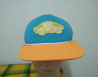 Rare Vintage VANS Of THE WALL Cap Hat Free size fit all