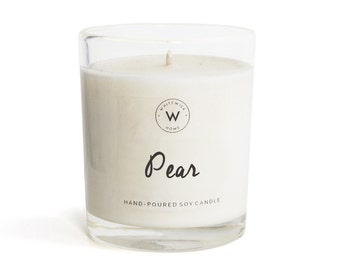 "Medium ""Pear"" Scented Soy Wax Candle"
