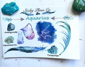 Aquarius Zodiac Sign Stickers