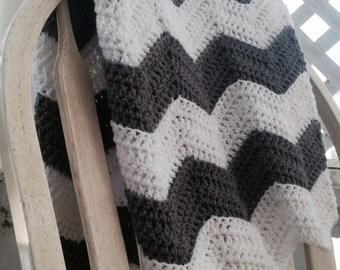 Crochet PATTERN - Ripple baby blanket, baby blanket pattern, chevron blanket pattern, ripple blanket pattern, crochet baby afghan