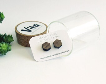 Geometric wood earrings-laser cutting, Geometric Collection