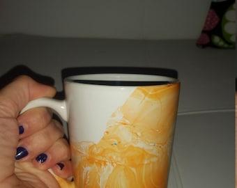 Hand painted mugs (set of 4)