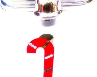 Candycane sink decoration