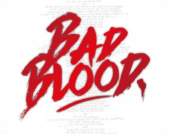 LyricsArt - Taylor Swift - Bad Blood - Print