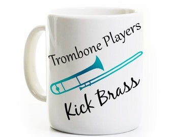 Trombone Player Gift - Coffee Mug - Jazz Band Player - Quartet