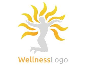 Wellness Logo, Care Logo, Rehabilitation Logo, Rehab Logo, Aging Logo, Sun Logo, Sunny Logo, Therapy Logo, Premade Logo, Logo Design