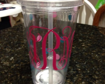 3 Intial personalized tumbler