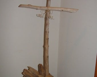 Driftwood cross wall hanging 28 inches tall