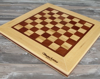 Chess board - Chessboard - Wooden chessboard - Checkers case - Playing case - Game - Chess - Checkers - Dices