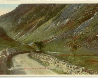 The Pass of Llanberis NORTH WALES Vintage Postcard Post Card