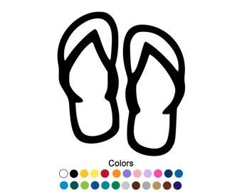 Flip Flop Decal Flip Flop Sticker Outdoor Vinyl Beach Gift Flip Flop Sign Beach Decor Wedding Flip Flops Sandals Decal Summer Gift D1123