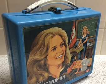 Vintage 1970's The Bionic Woman Lunchbox