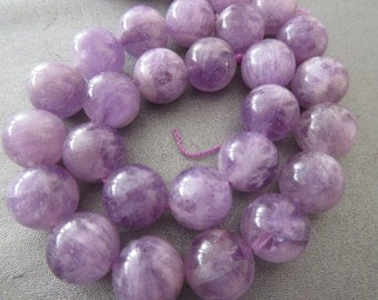 Amethyst Round 14mm Beads 29pcs