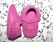 Leather Baby Moccasins, Pink Bow Moccasins, Baby Pink Moccs, Baby Leather Shoes, Baby Moccs, Toddler Moccasins, Baby Moccs, Baby Moccasins