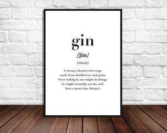 Gin quote | Etsy