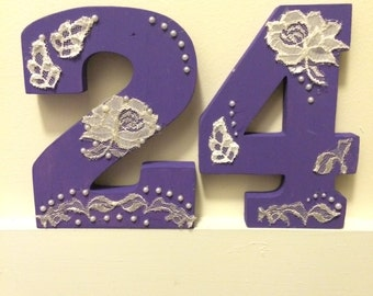 CUSTOM Wedding Table Numbers